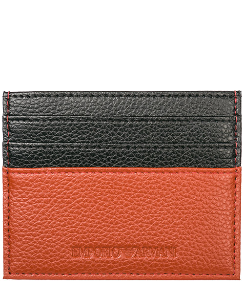 Credit card holder Emporio Armani Y4R173YEW1E81520 orange / black