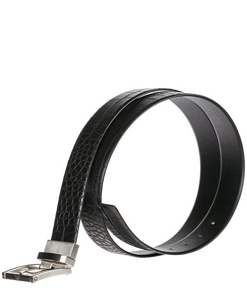 Men's adjustable length reversible leather belt secondary image