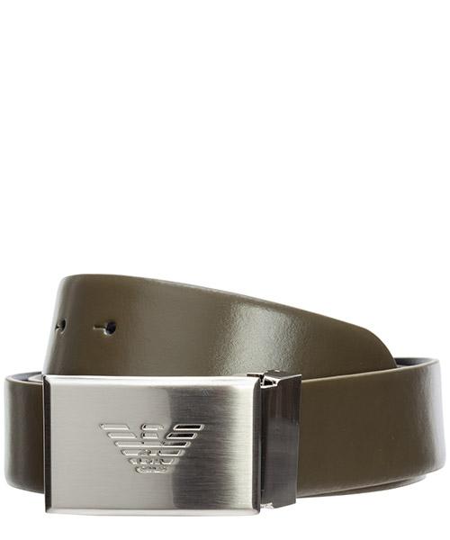 Cinturón Emporio Armani y4s224ylq7e88294 verde militare / nero