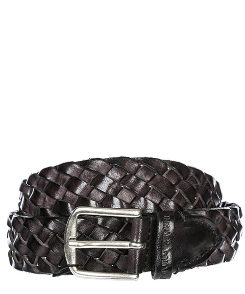 Плетеный пояс Emporio Armani Y4S263 YBN6G 80001 black