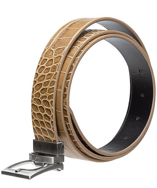 Cinturón en piel de hombre ajustable reversible secondary image
