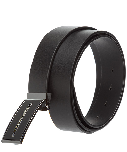 Men's adjustable length genuine leather belt secondary image
