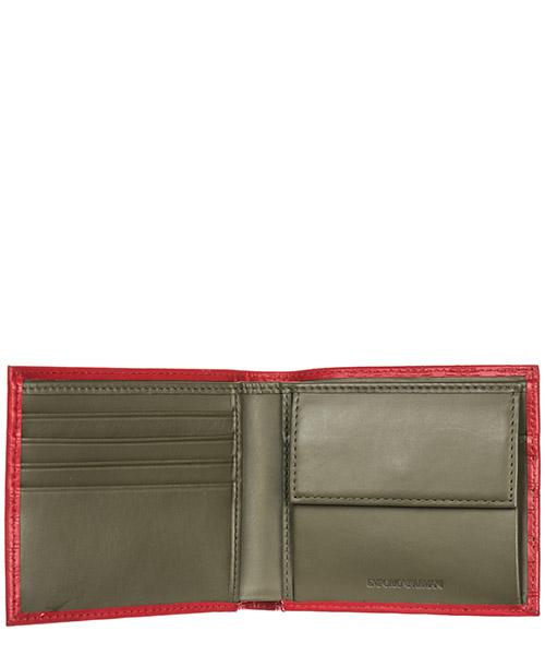Cartera billetera bifold de hombre en piel secondary image