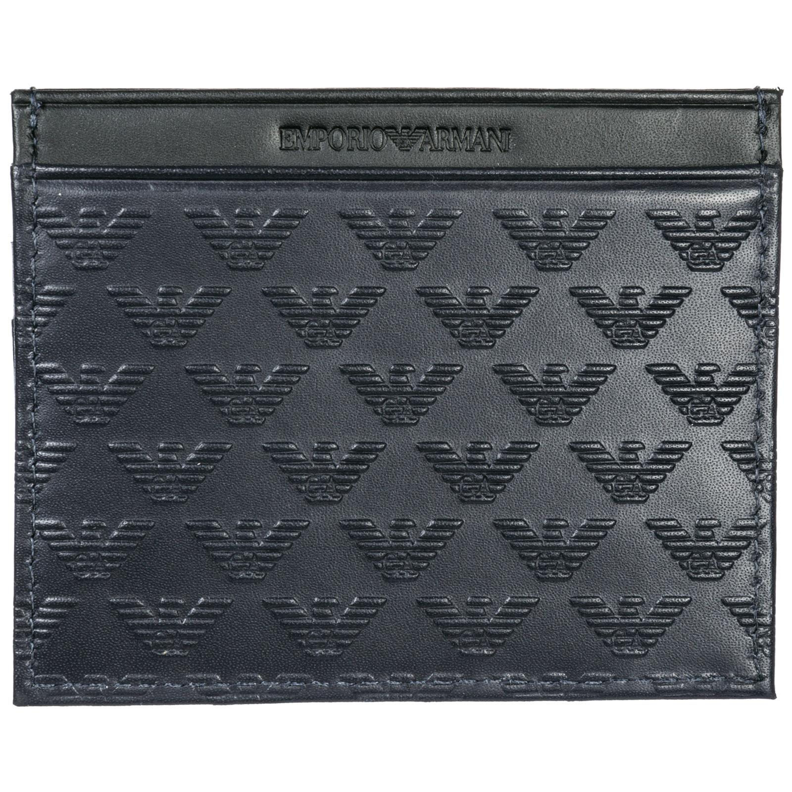 4ecb9c2356 Porta carte di credito Emporio Armani YEM320YMD6T83194 navy / black ...