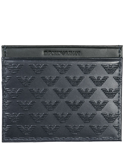 Credit card holder Emporio Armani YEM320YMD6T83194 navy / black