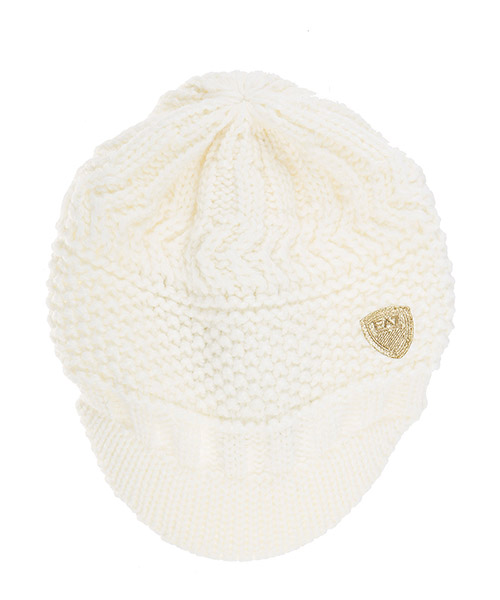 Berretto Emporio Armani EA7 285399 6A734 00011 pale cream