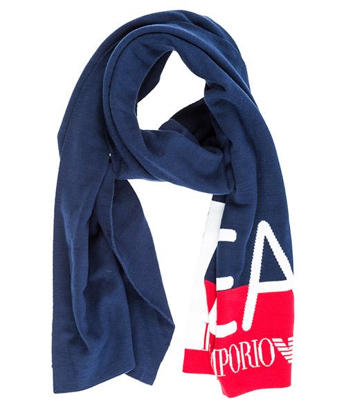 Sciarpa Emporio Armani EA7 2855688A31154035 black iris / tango red