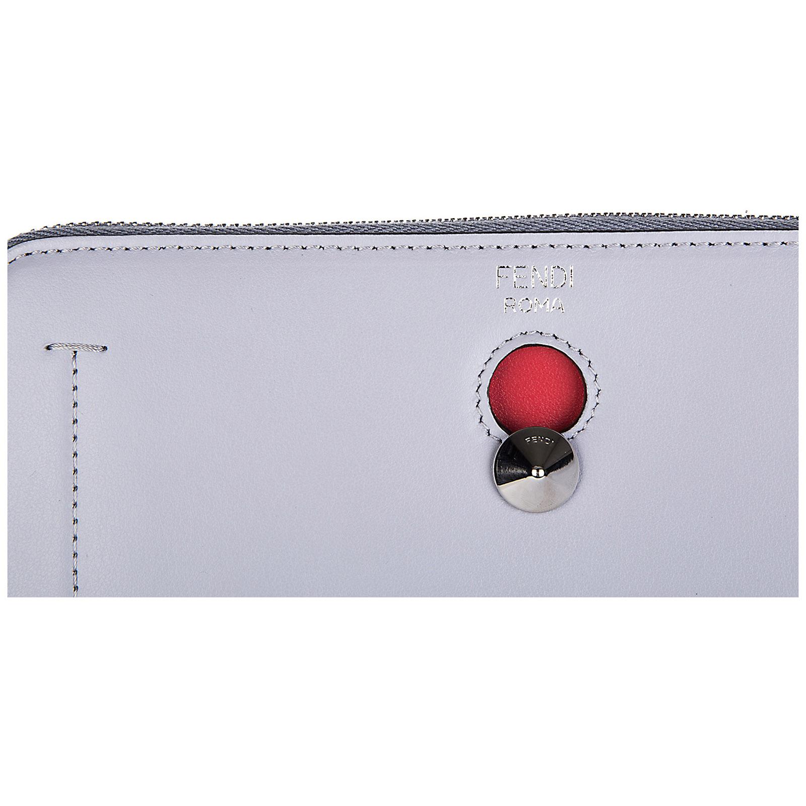 Portefeuille porte-monnaie femme en cuir bifold zip around dotcom