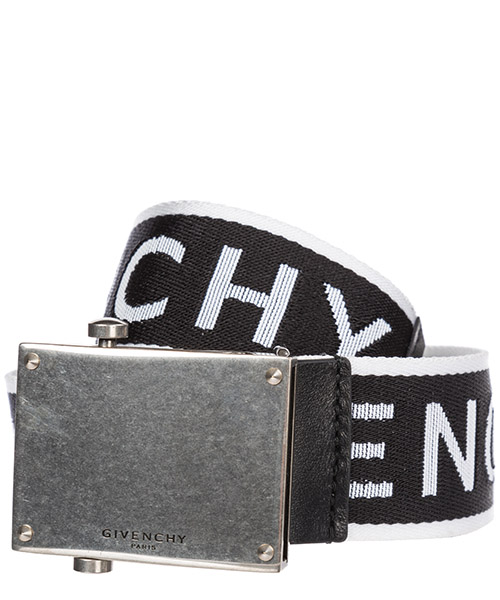 Cintura Givenchy Logo BK400SK0BQ 004 black - white