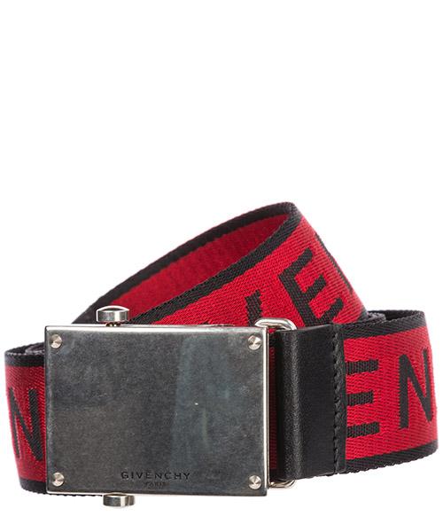 Cintura Givenchy Logo BK400SK0HL 009 black - red