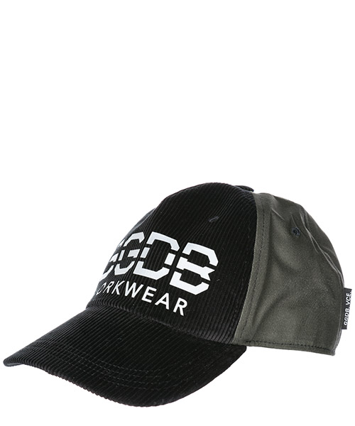 Hat Golden Goose mike g33ma590.a1 black corduroy green