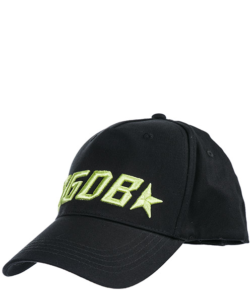 Cappello baseball Golden Goose Jackie G34WA093B2.BLACK/LIME nero