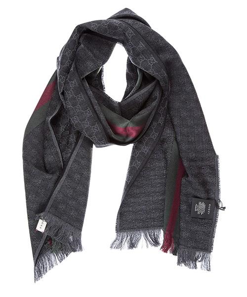 Men's wool scarf jacquard secondary image