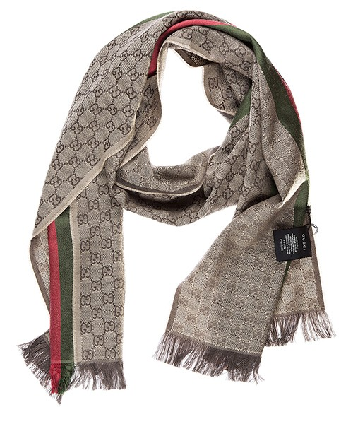 Men's wool scarf jacquard secondary image