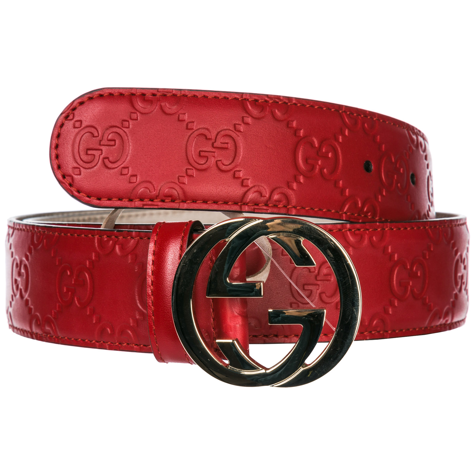 d300846e7 Gucci Women's genuine leather belt signature gg