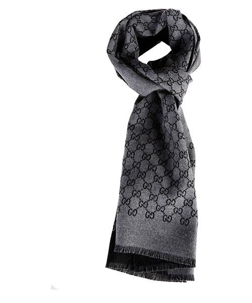 Wool scarf Gucci 391246 4G200 1160 grigio