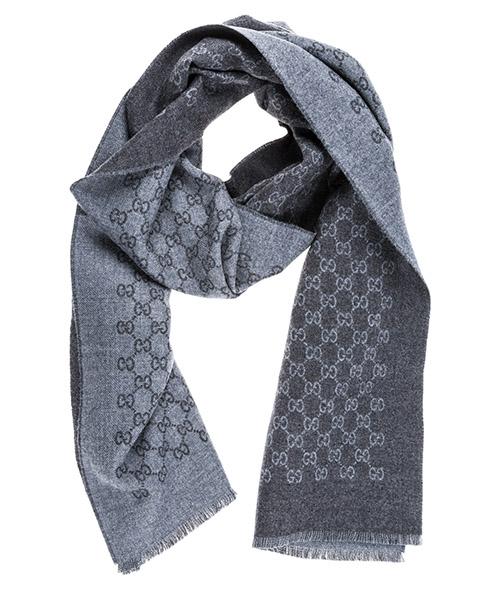 Шерстяной шарф Gucci 3912464G2001462 grigio