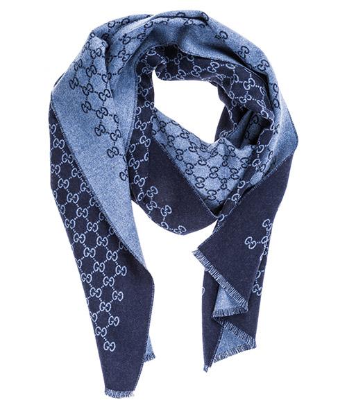 Шерстяной шарф Gucci 3912464G2004569 blu