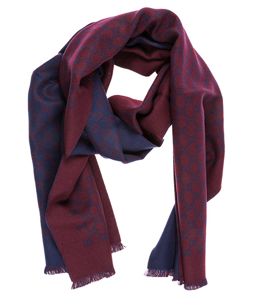 Wool scarf Gucci 3912464G2006168 bordeaux