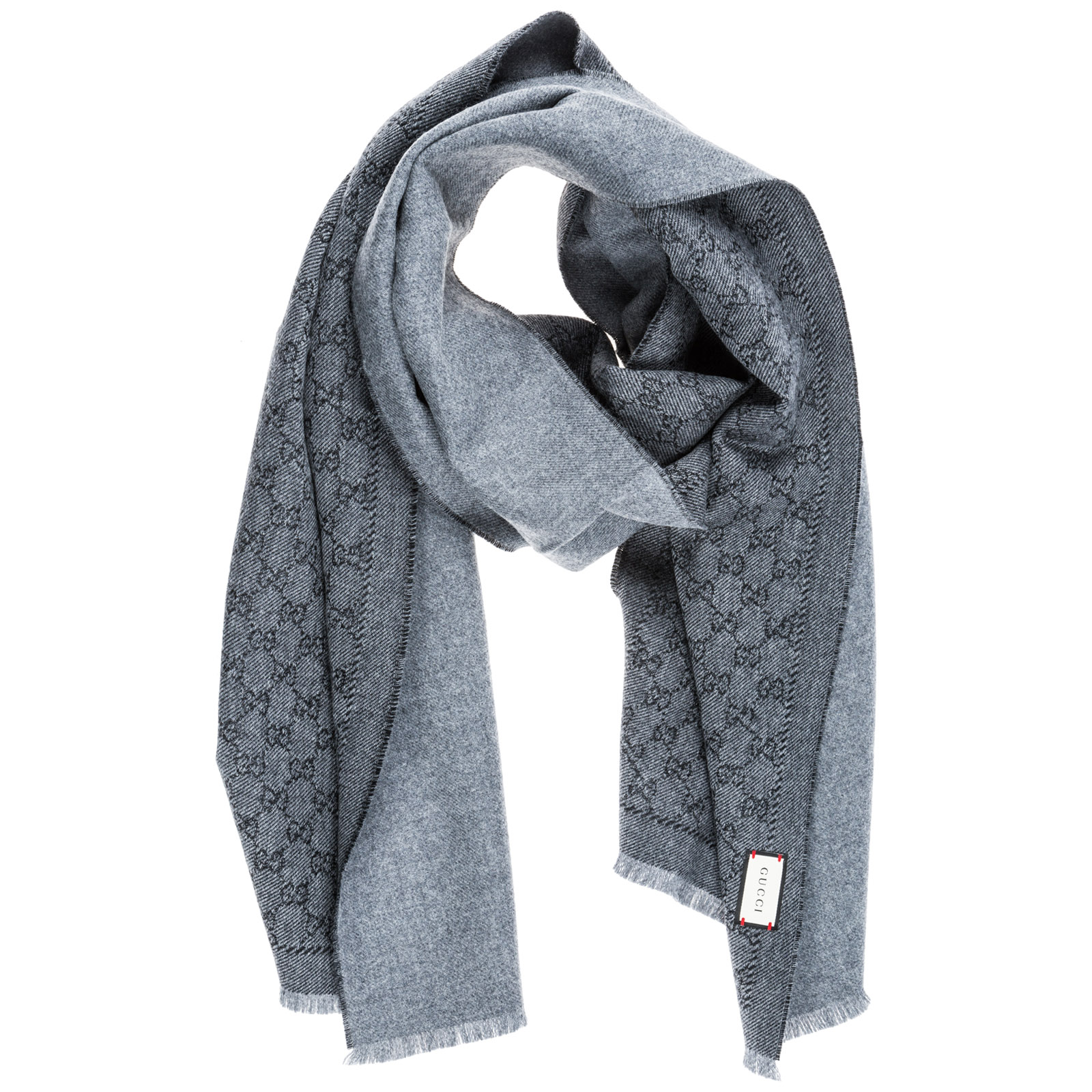 ea85523886bf Gucci Men'S Wool Scarf Gg Supreme In Grey | ModeSens