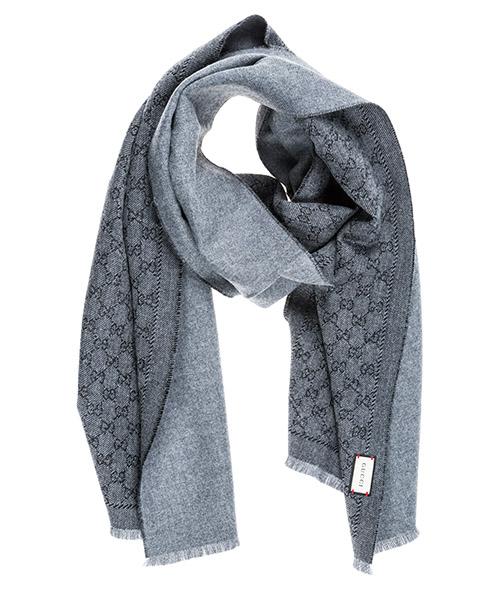 Wool scarf Gucci Swallow Plimsoll 4020934G2001162 grigio
