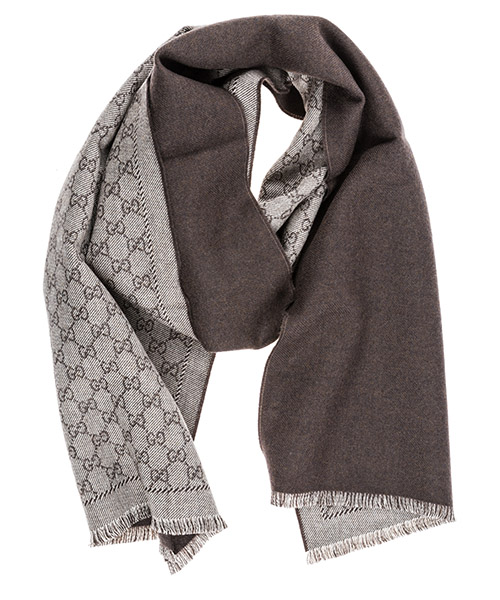 Men's wool scarf gg jacquard secondary image
