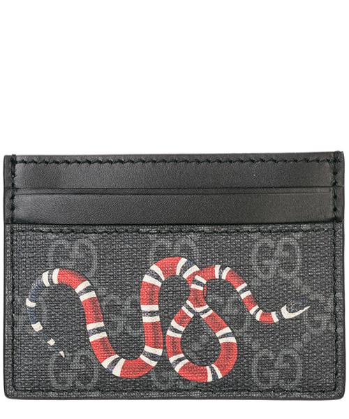 Porta carte di credito Gucci kingsnake 451277 k541n 1058 nero