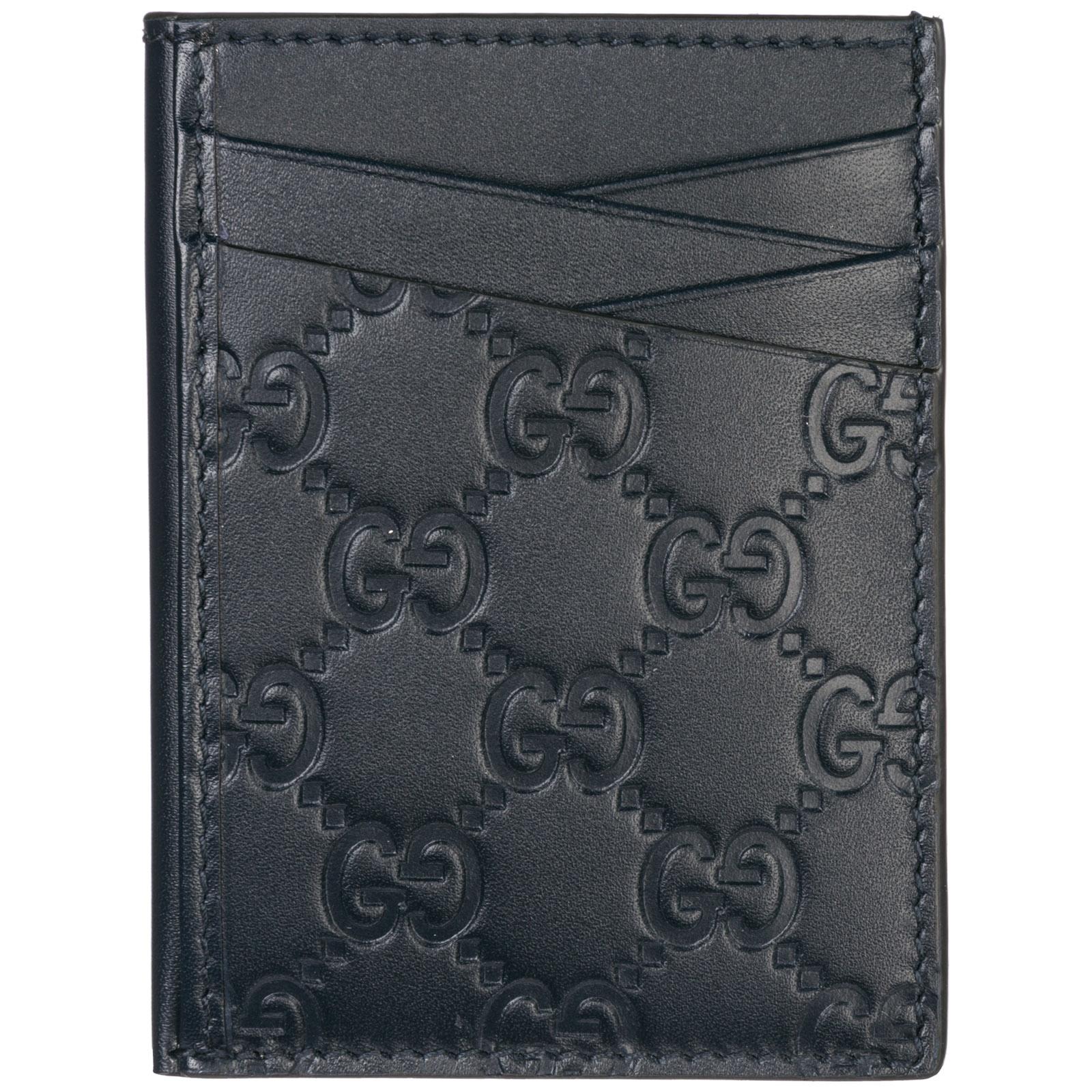 4dbbccfd74a1 Porta carte di credito Gucci 495015 CWC1R 4009 blu | FRMODA.com