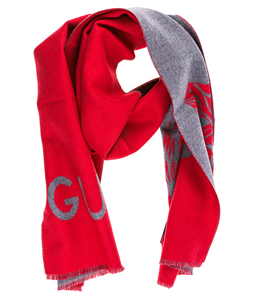 Wool scarf Gucci 4954794G2006462 rosso