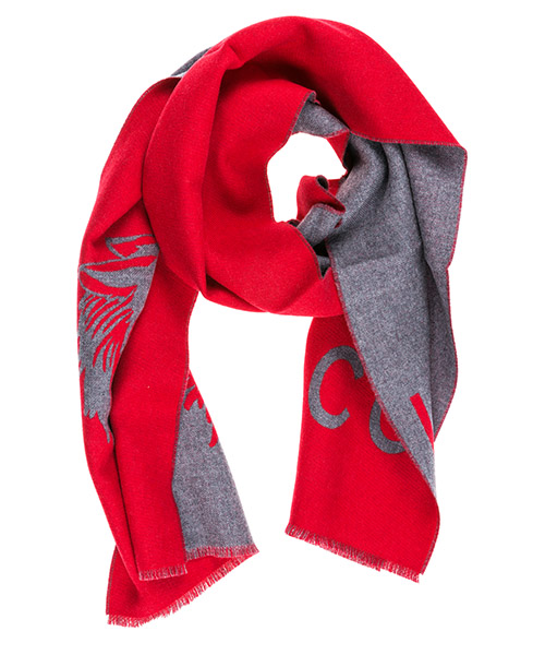 Men's wool scarf wolf secondary image
