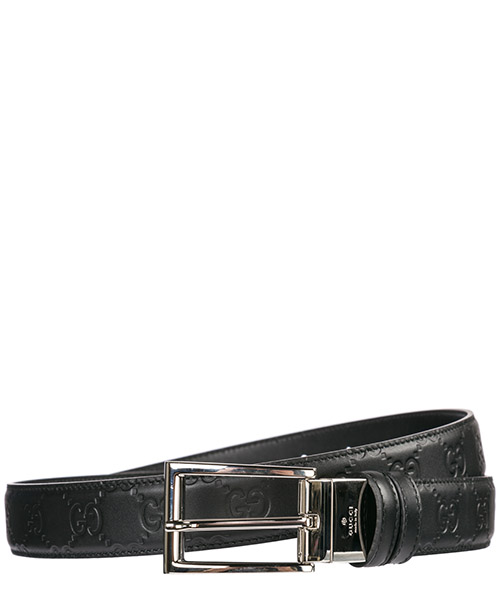 Men's belt reversible double genuine leather