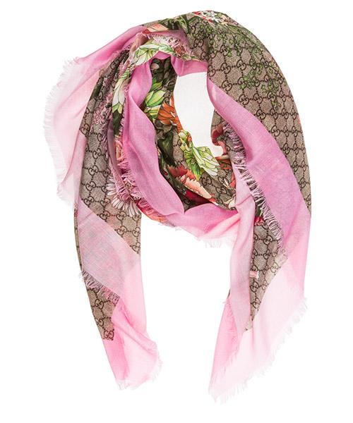Shawl Gucci spring bouquet 526390 3g856 9772 rosa