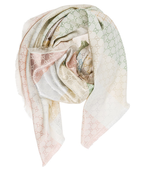 Women's shawl shoulder wrap jacquard gg secondary image