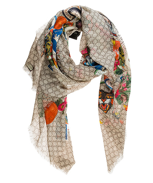Шерстяной шарф Gucci 574993 4G200 9765 beige
