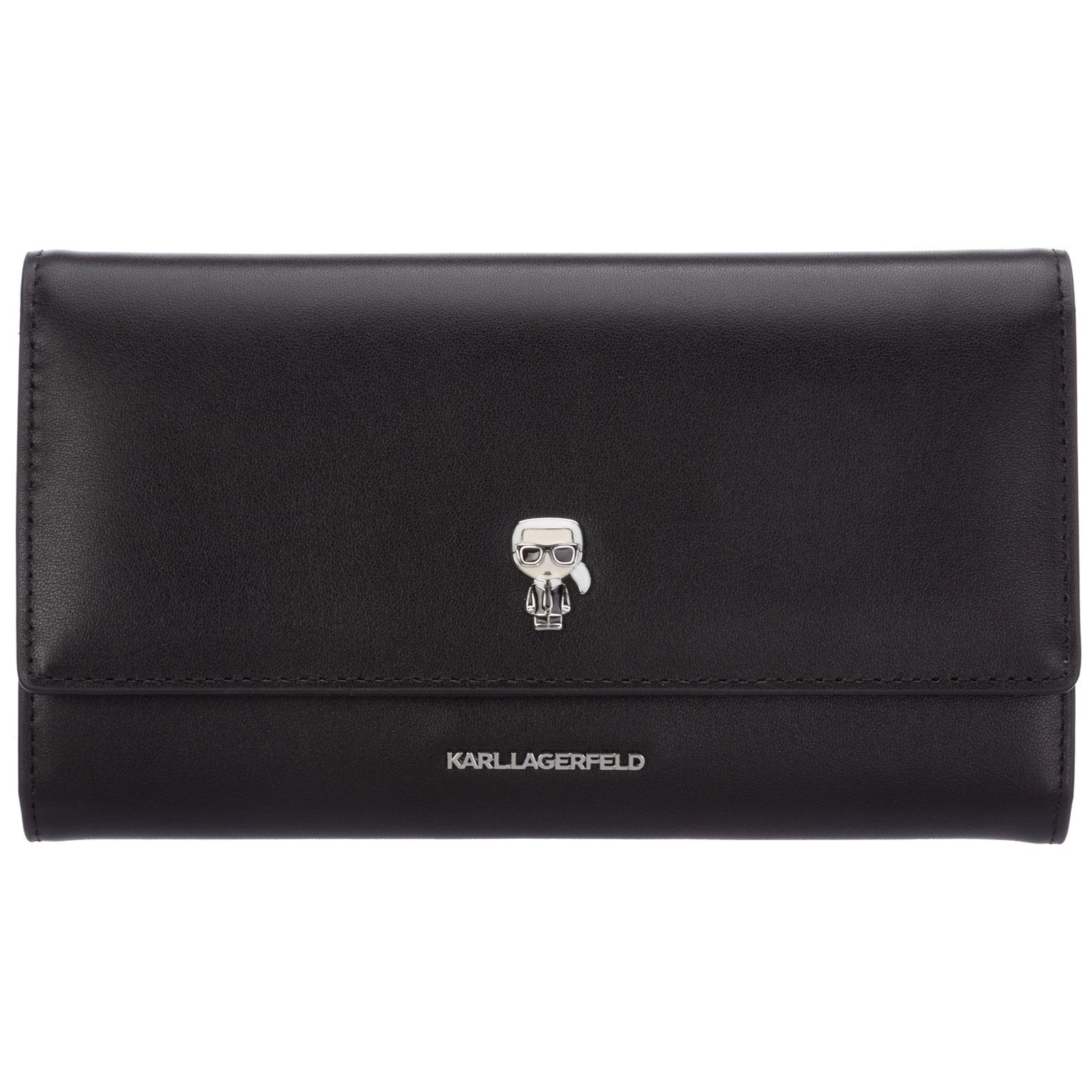 Karl Lagerfeld Wallets WOMEN'S GENUINE LEATHER WALLET CREDIT CARD BIFOLD  K/IKONIK