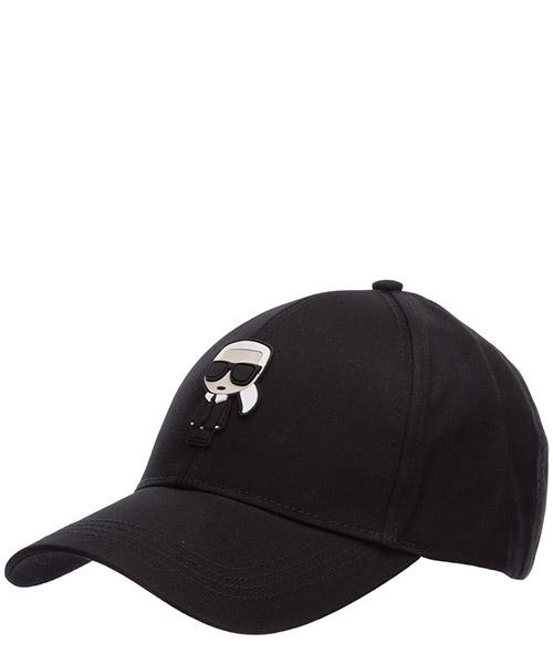 Baseball cap Karl Lagerfeld K/Ikonik 205W3403 nero