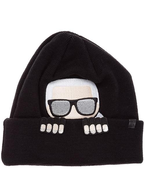 Mütze Karl Lagerfeld k/ikonik 20kw201w3415 nero