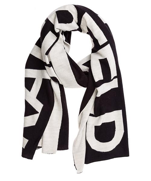 Wool scarf Karl Lagerfeld k/karl 96kw3308 black