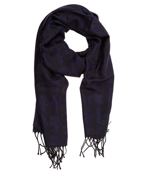 Écharpe en laine Karl Lagerfeld 805001592132 blu