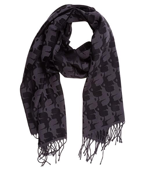 Wool scarf Karl Lagerfeld 805001592132 nero