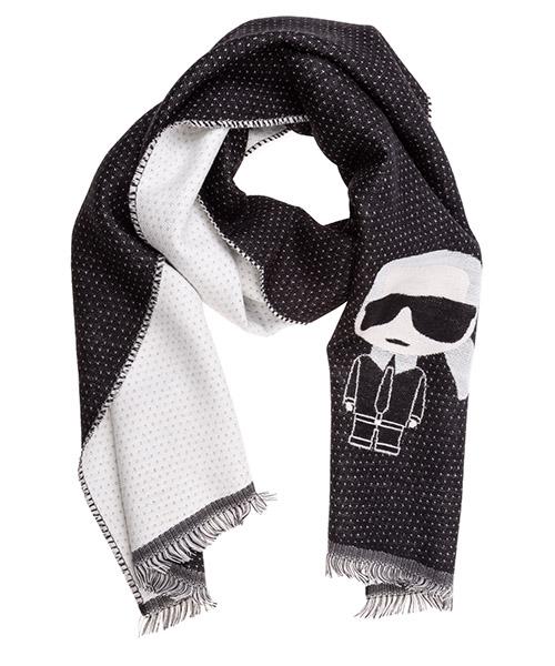 Wool scarf Karl Lagerfeld 805001592138 nero