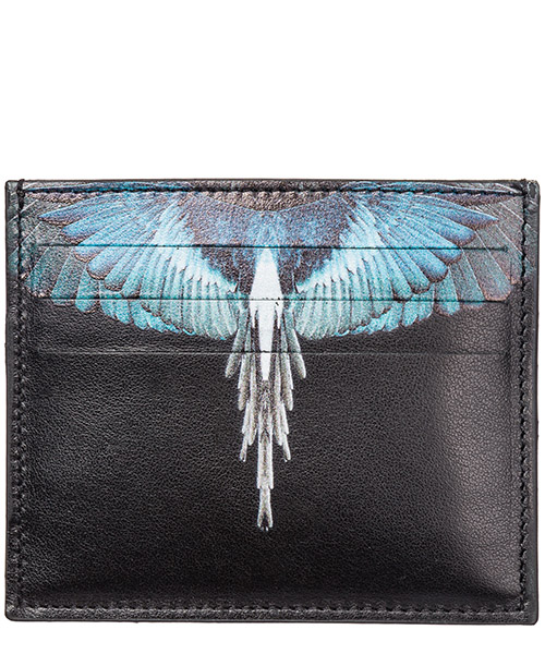 Credit card holder Marcelo Burlon Wings CMND003E198540581088 black multicolor