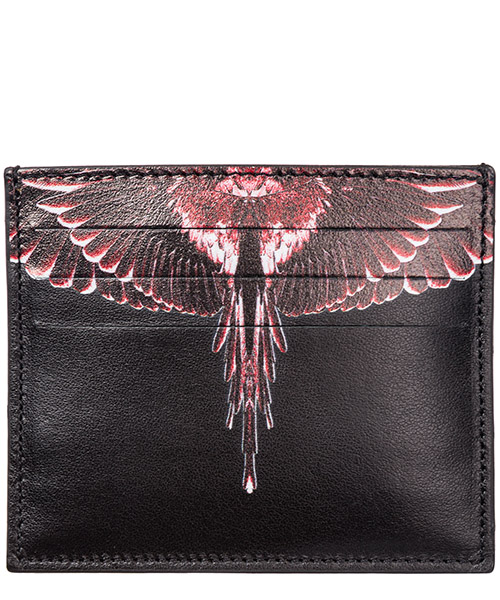 Credit card holder Marcelo Burlon Wings CMND003E198540871088 black multicolor