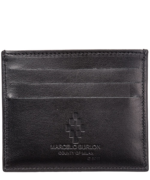 Men's genuine leather credit card case holder wallet wings secondary image