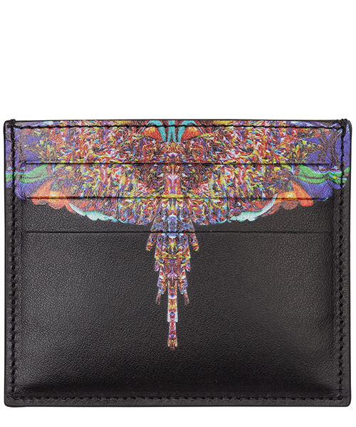 Porta carte di credito Marcelo Burlon multicolor wings cmnd003f198540691088 nero