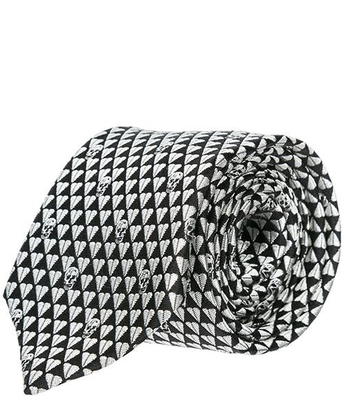 Tie MCQ Alexander McQueen 1657244Q018077 black - white