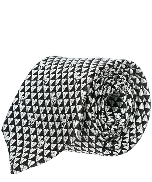 Corbata MCQ Alexander McQueen 1657244Q018077 black - white