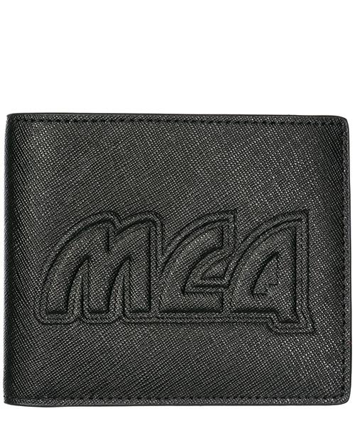 Wallet MCQ Alexander McQueen Metal logo 401476R4B901000 nero