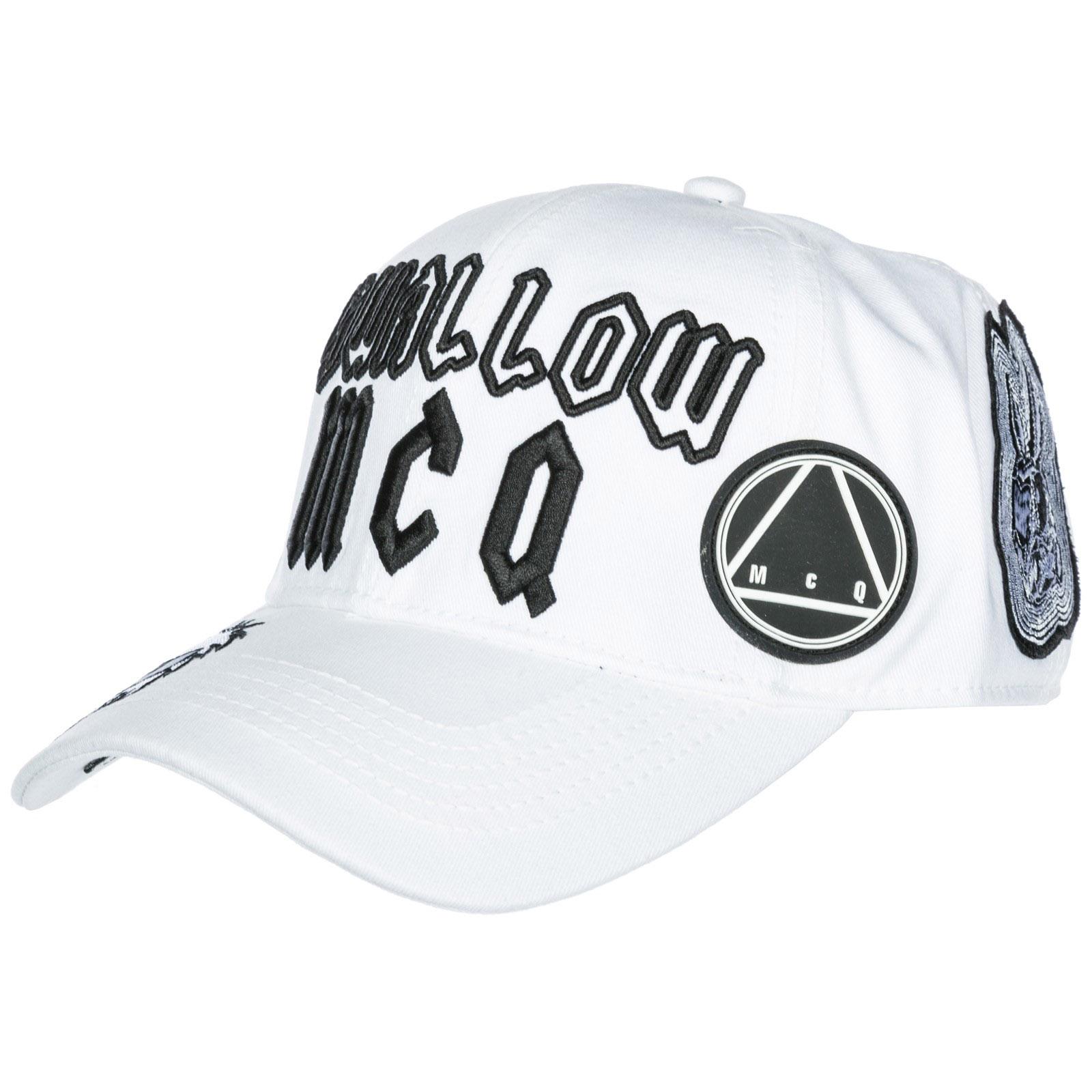 93d45d9115e Mcq By Alexander Mcqueen Adjustable Men S Cotton Hat Baseball Cap Swallow  In White