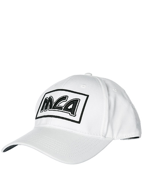 Baseball cap MCQ Alexander McQueen Metal logo 501183RGC309061 white